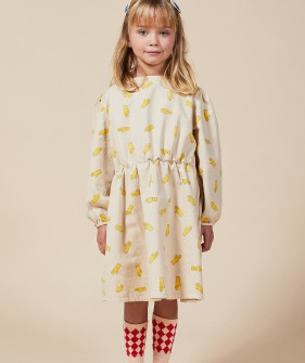 Hands All Over Woven Dress #01156 ★ONLY 4-5Y★