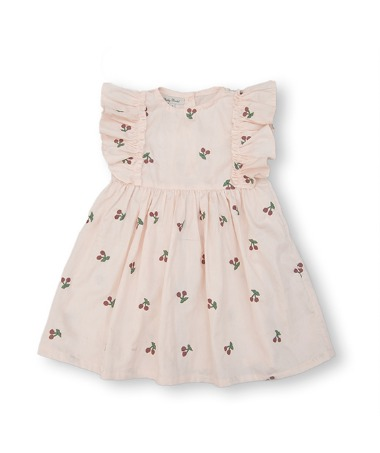 Uniqua Dress - Dusty Pink With Cherry Badge