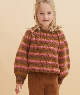 Striped Sweater #20217 - Copper Stripe