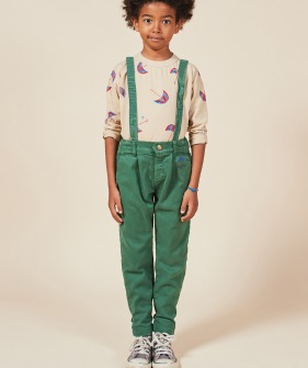 Boy Patch Braces Pants #01099