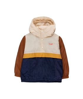 Color Block Pullover - Cappuccino/Navy