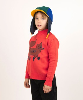 """Tiny Fox"" Sweater - Red/Sienna"