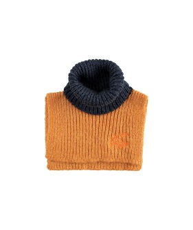 Color Block Neck Warmer - Honey/Navy