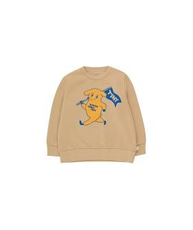 """Dog"" Sweatshirt - Cappuccino/Yellow"