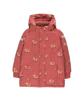 """Foxes"" Snow Jacket - Dark Brown/Sienna"