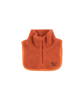 """Tiny Fox"" Sherpa Bib - Red"