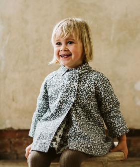 Sophie Jacket - Blue Floral Brushed Cotton Twill ★ONLY 5-6Y★