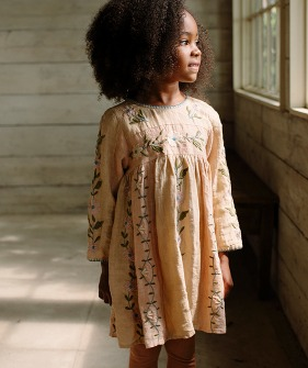 Pascale' Dress – Pink Salt/Oat ★ONLY 7-9Y★