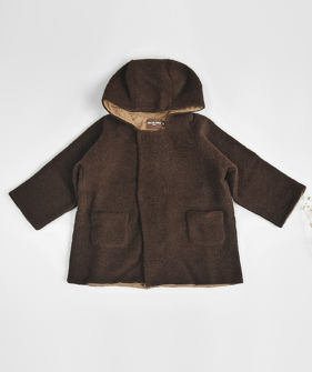 Double Button Coat - Brown