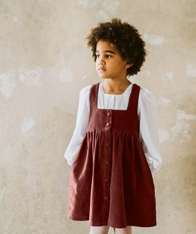 Dorcas Pinafore - Clay Velvet