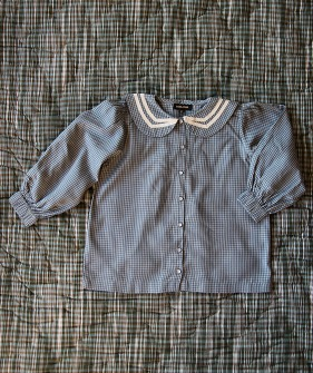 Sailor Blouse  - Blue Check