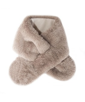 Teddy Fur Wrap Brown