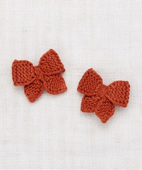 Baby Puff Bow Set - Paprika
