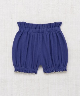 Ribbed Bubble Shorts - Blue Violet