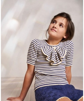 Frankie Bow Top - Blue Violet ★ONLY 4-5Y★