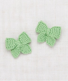 Baby Puff Bow Set - Peapod ★LAST ONE★