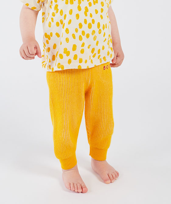Yellow Striped Knitted Trousers (Baby) #00102