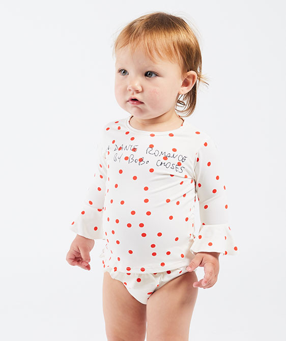 Dots Ruffle Swim Top (Baby) #00111