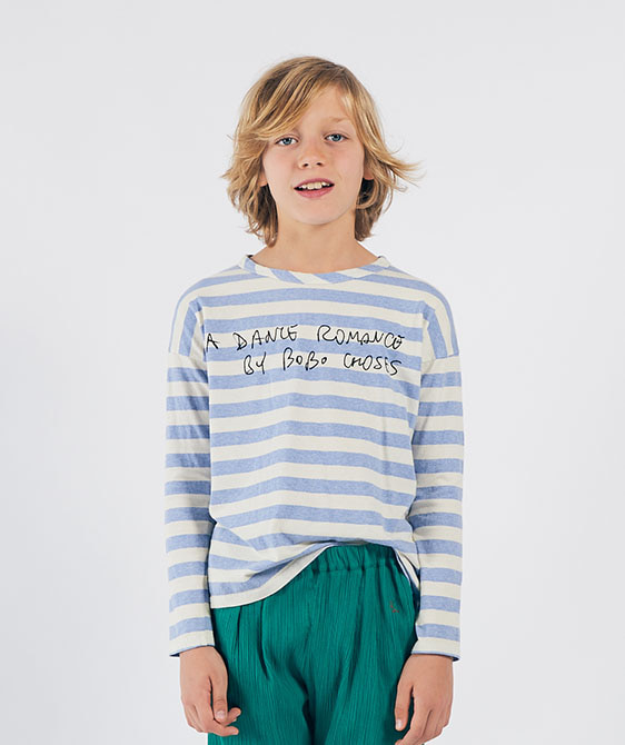 A Dance Romance Striped Long Sleeve T-Shirt (Kid) #01032