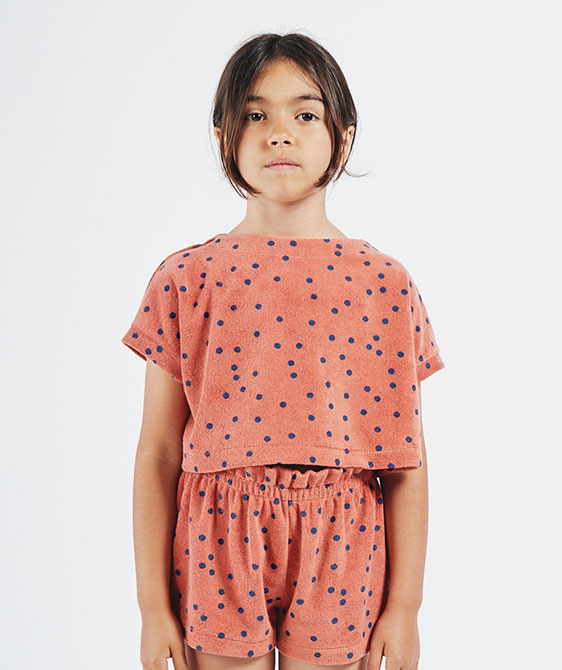 Spots Terry Towel Cropped Sweatshirt (Kid) #01034