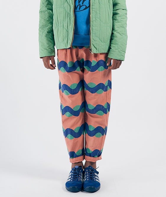All Over Sea Baggy Trousers (Kid) #01090 ★ONLY 6-7Y★