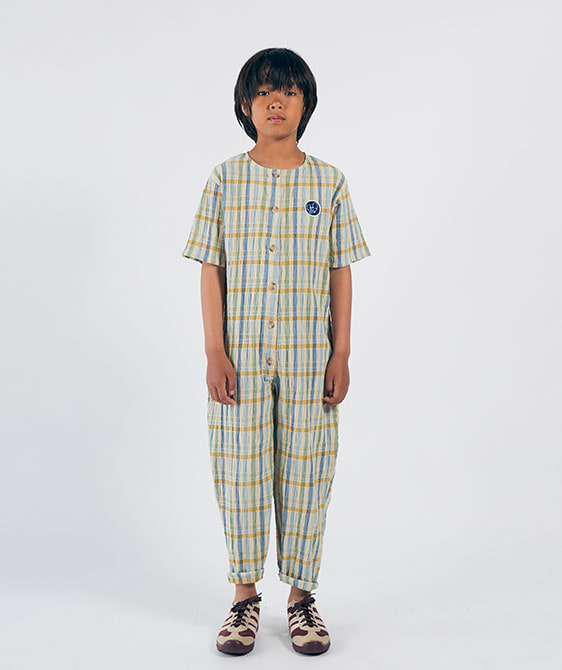 Checker Woven Overall (Kid) #01107