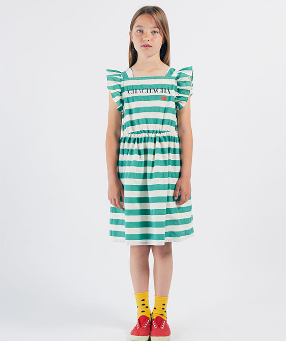 Chachach?¡ Kiss Woven Ruffle Dress (Kid) #01119 ★ONLY 4-5Y★