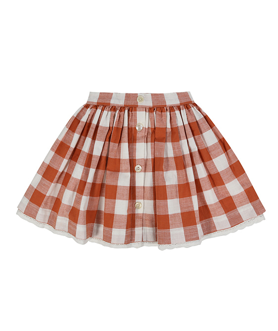 Salcombe Skirt - Rust Gingham