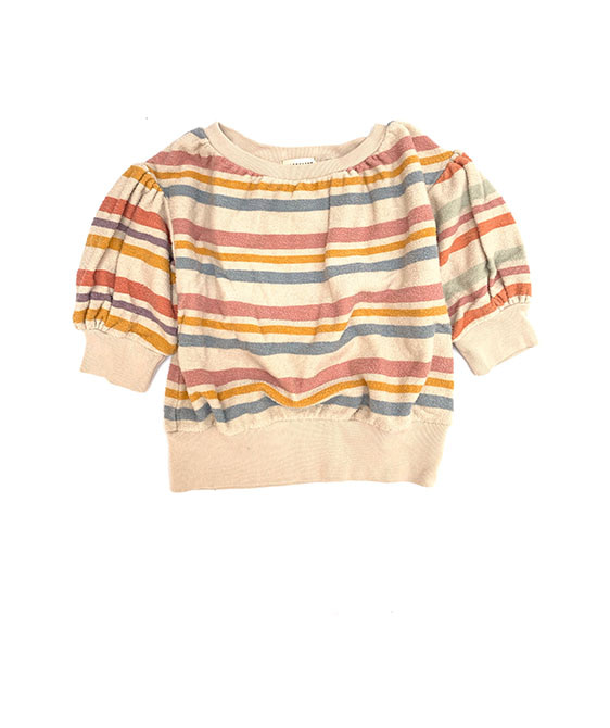 Terry SS Sweater (440) - Stripe ★ONLY 4Y★