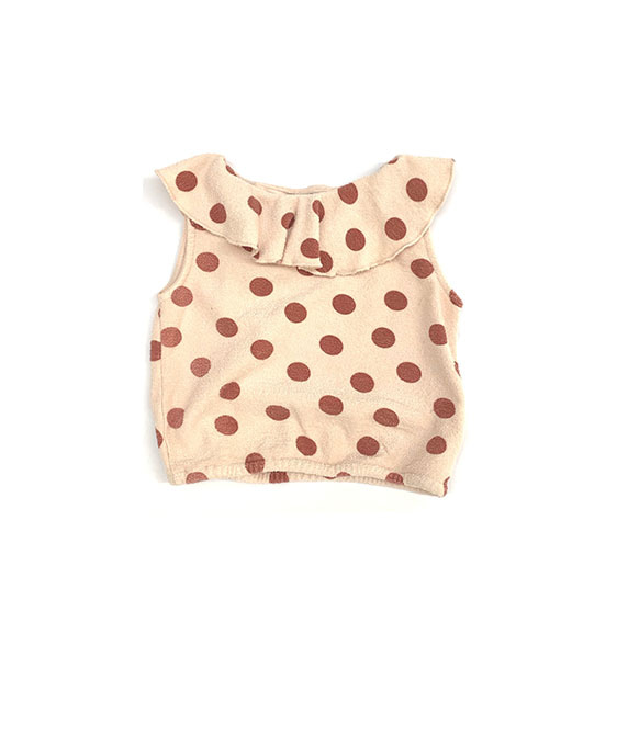 Terry Top (444) - Brown Dots ★ONLY 4Y★