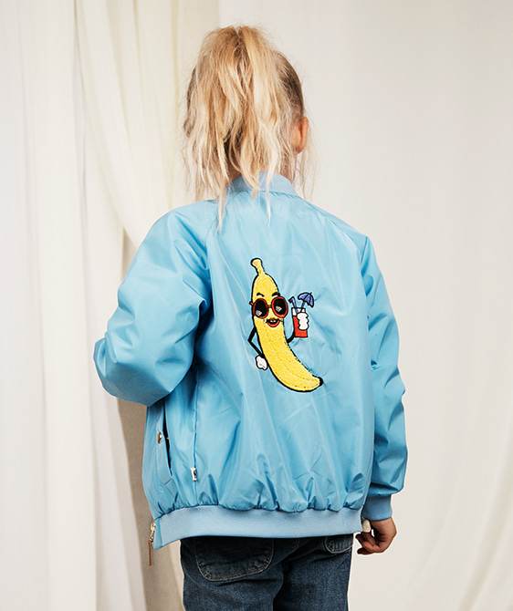 Banana Baseball Jacket - Light Blue