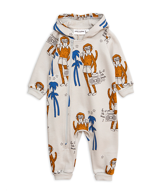 Cool Monkeys Aop Onesie - Grey