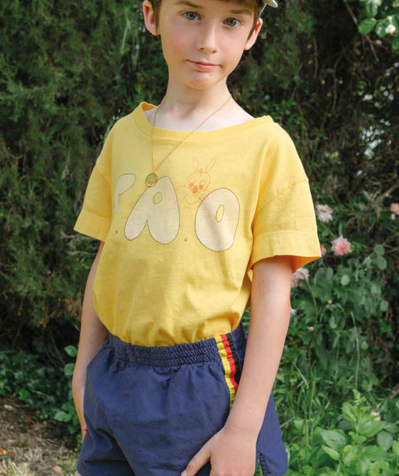 Rooster Kids T-Shirt - Yellow Tao