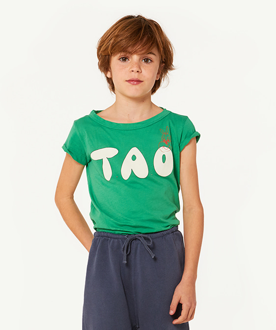 Hippo Kids T-Shirt - Green Tao