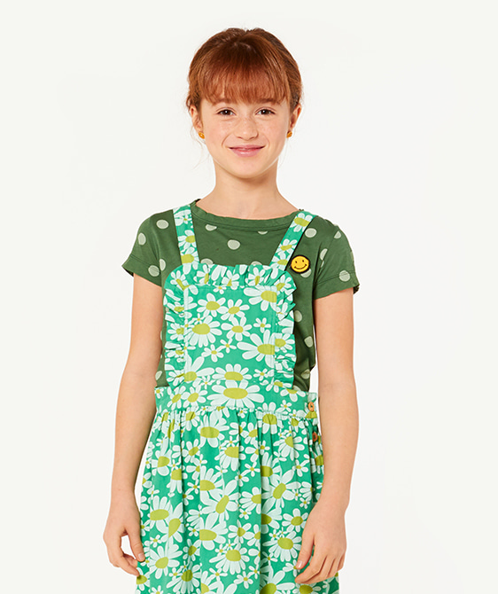 Hippo Kids T-Shirt - Green Polka Dots