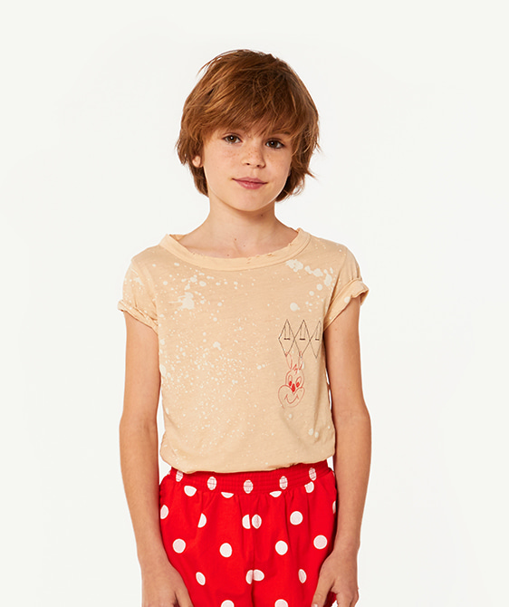 Hippo Kids T-Shirt - Brown Splashes