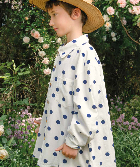 Wolf Kids Shirt - White Polka Dots