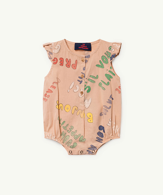Butterfly Babies Jumpsuit - Toasted Almond Words