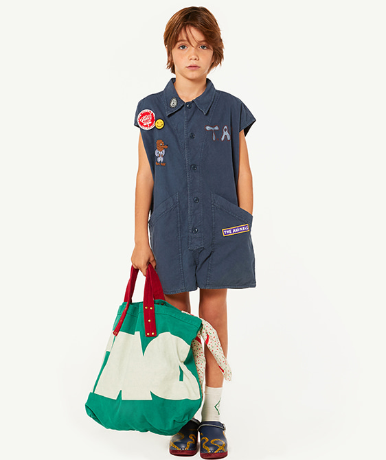 Ape Kids Jumpsuit - Blue Dog