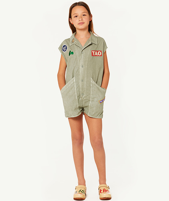 Ape Kids Jumpsuit - Green Landscape
