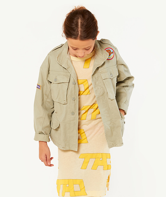 Mastiff Kids Jacket - Green Dog