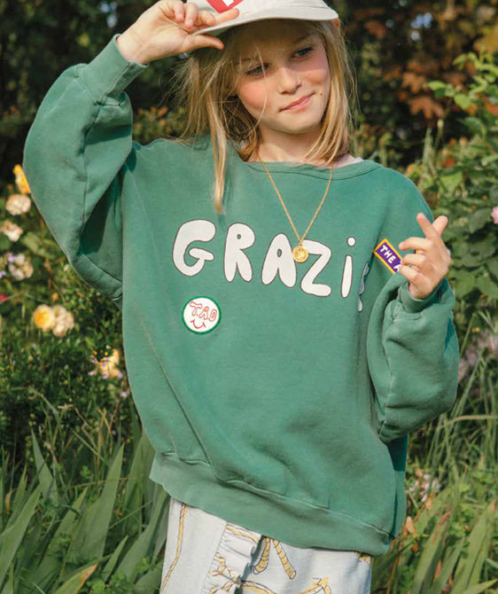Big Bear Kids Sweatshirt - Green Grazie