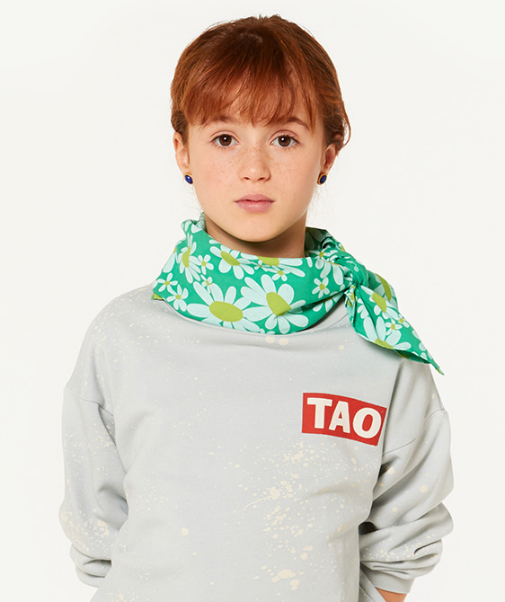 Ray Scarf - Green Daisies ★LAST ONE★