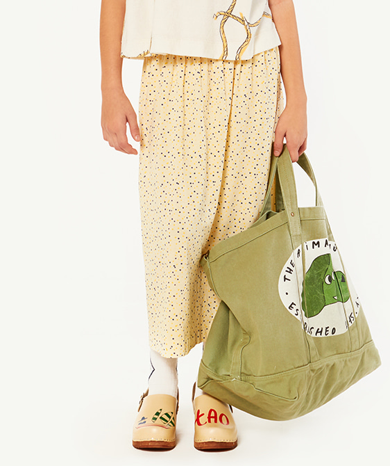 Big Canvas Tote Bag - Military Green Dog