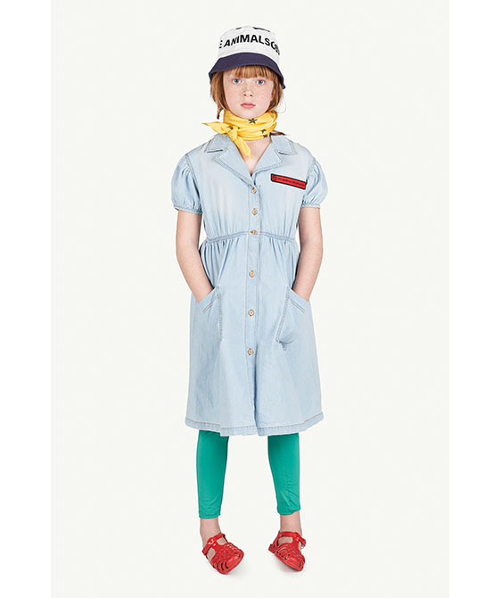 Denim Dolphin Kids Dress - 001175_114_XX