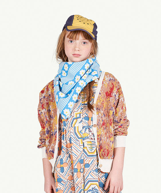 Multicolor Racoon Kids Cardigan - 001224_165_XX