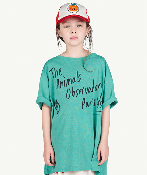 [EXCLUSIVE] Rooster Oversize Kids T-Shirt - Green The Animals