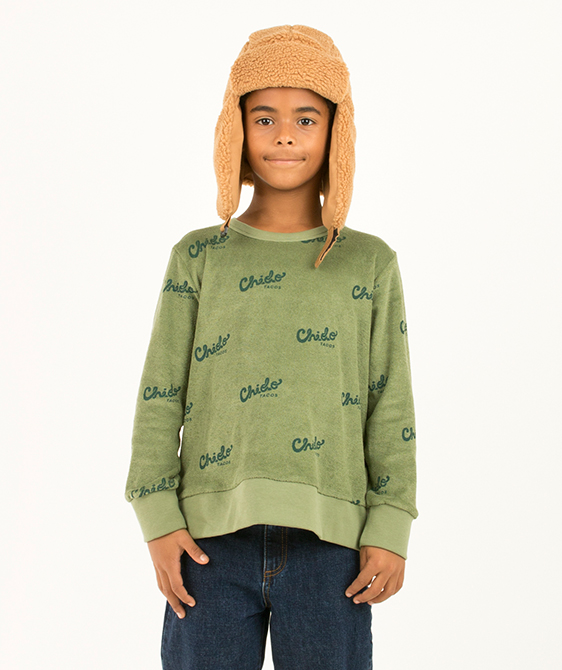 Chido Sweatshirt - Green Wood/Bottle Green