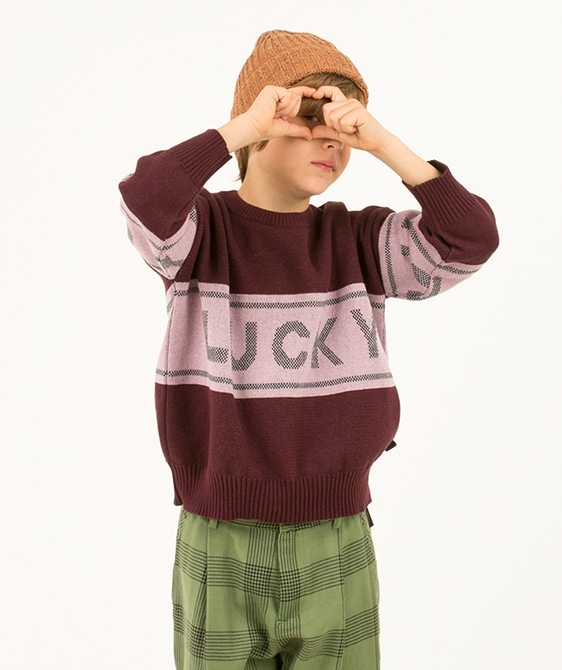 Lucky Sweater - Aubergine/Light Lilac