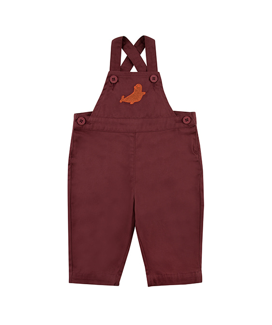 Seal Dungaree - Aubergine ★ONLY 18M★
